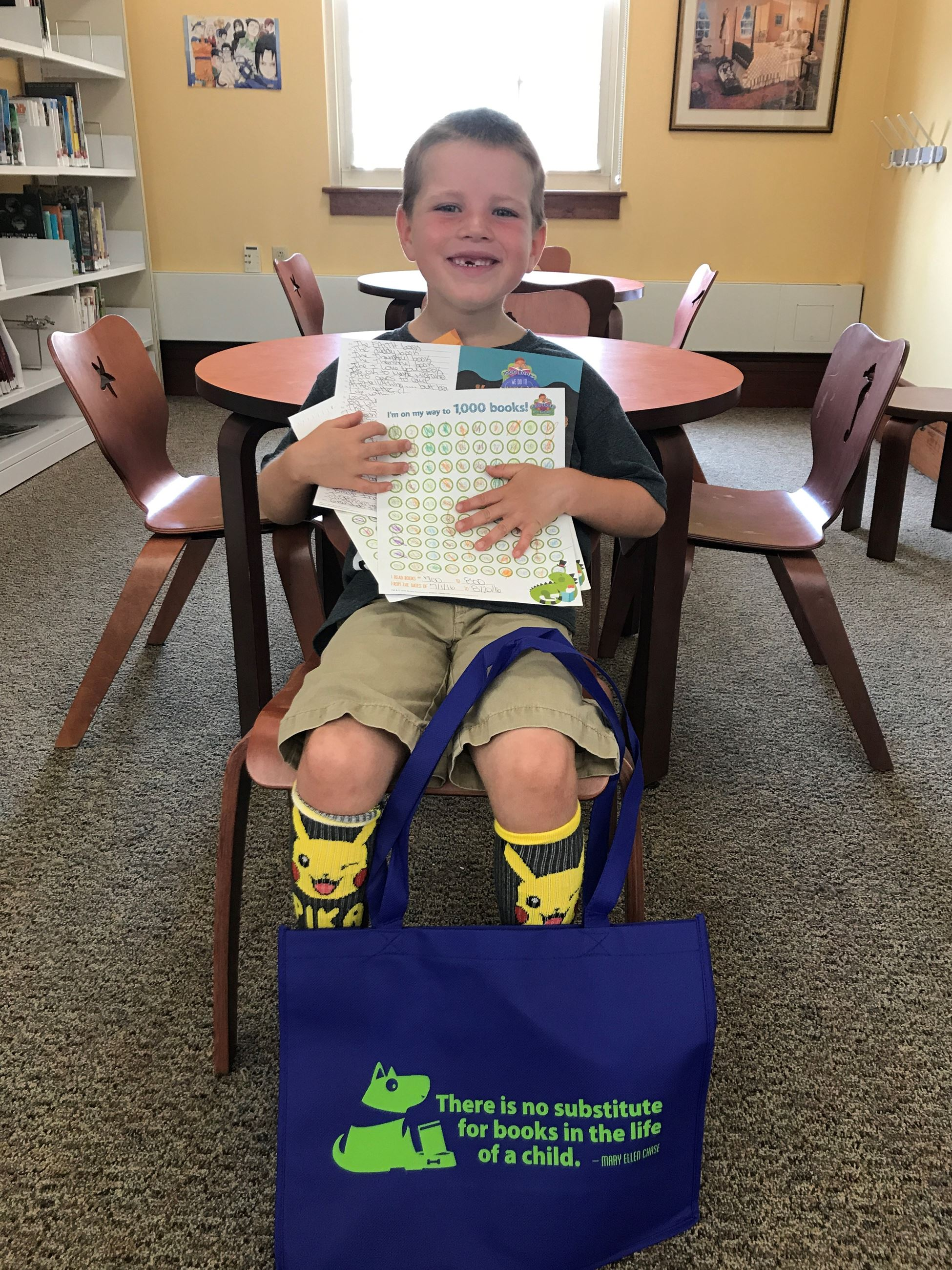 Matthew  completed 1,000 books before kindergarten.